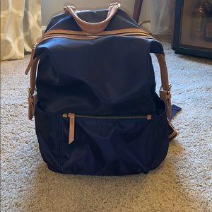 Navy Nylon canvas Book- bag